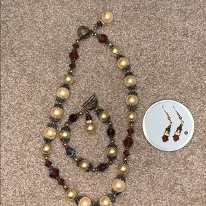 Necklace, Bracelet & Earrings